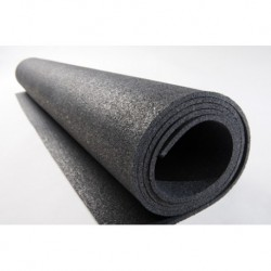 6 mm dik Volledig Zwart granulaat rol 1,5x20