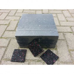 100x100x15 Rubber granulaat tegeldrager