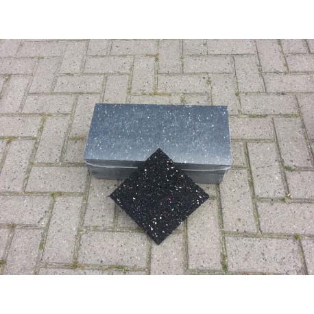 100x100x10 Rubber granulaat tegeldrager