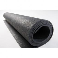 5mm dik  Zwart granulaat rol 1,5x20